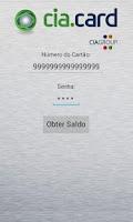 Screenshot of Cia.Card - Consulta de Saldo