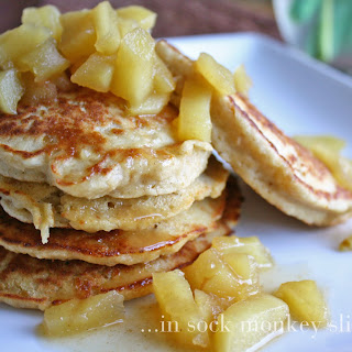Chickpea Pancakes With Ginger Apple Compote