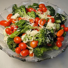 Parmesan Broccoli With Cherry Tomatoes
