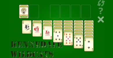 Screenshot of Wildcat Basketball Solitaire