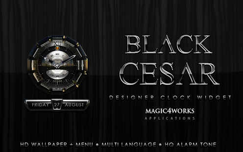 Cesar designer Clock Widget - screenshot