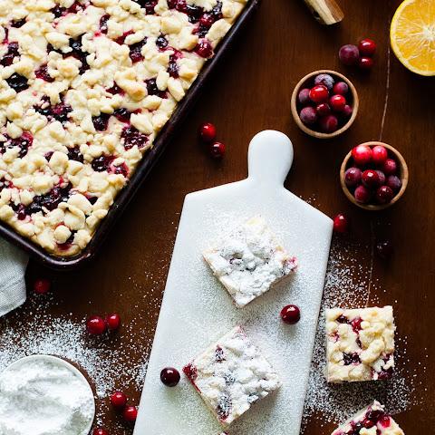 Cranberry Cheesecake Shortbread Bars