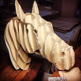 Cardboard horse by David Tandayu - Artistic Objects Other Objects