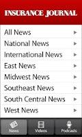 Screenshot of Insurance Journal