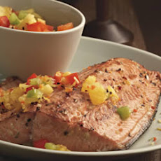 Baked Salmon with Pineapple Salsa