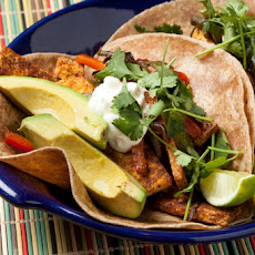 Tofu Fajitas with Whole Wheat Tortillas