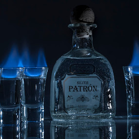 Hot Saturday Night by Keith Reling - Food & Drink Alcohol & Drinks ( flames, patron, drink, shots,  )