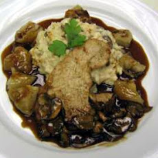 Veal Scallops with Wild Mushroom, Mustard, and Tarragon Sauce