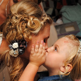 Wedding Kisses by Fawnia Celone - Wedding Bride ( love, wedding, innocence, special, bride, toddler, moments, kisses )