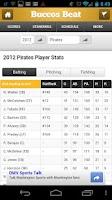 Screenshot of Baseball by StatSheet