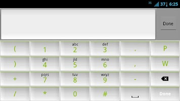 Screenshot of White and Green Keyboard Skin