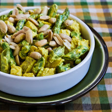 Curried Chicken Salad with Asparagus and Peanuts