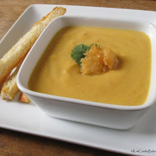 Gingered Butternut Cauliflower Soup