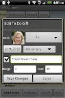 Screenshot of Gift Calendar