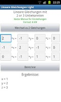 Screenshot of Linear Equations (Light)