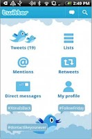 Screenshot of Social Networking