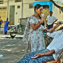 Street Play by Premkumar Antony - City,  Street & Park  Street Scenes ( vinitha, loyola college outreach, premkumar antony, simon fernando )