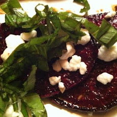 Roasted Beets With Balsamic Vinaigrette and Goat Cheese