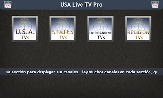Screenshot of USA Live TV