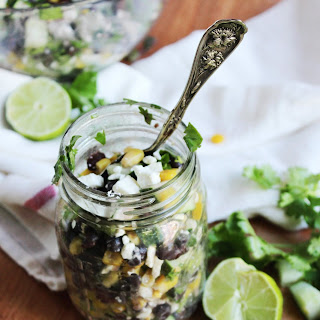 Chilled Black Bean Feta Cucumber Salad