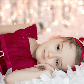 Beauty by Jenny Hammer - Babies & Children Child Portraits ( child, girl, bokeh, red dress, pretty )