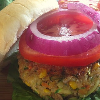 Mouthwatering Loaded Veggie Burger With Quinoa