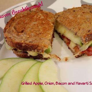 Grilled Apple, Onion, Bacon and Havarti Sandwiches