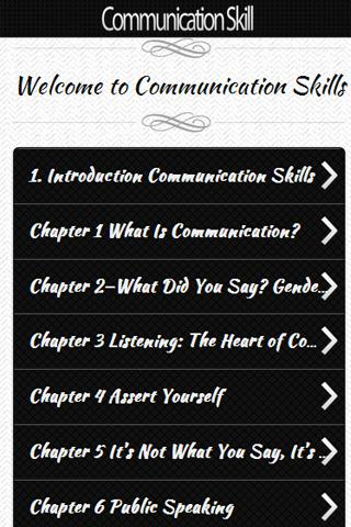 communication-skills for android screenshot