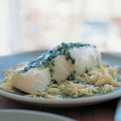 Baked Halibut with Salsa Verde