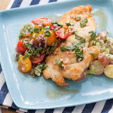 Chicken Paillard with Warm Potato Salad