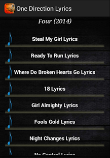 one direction songs - screenshot