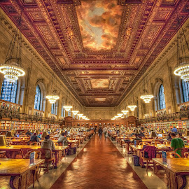 The New York Public Library by Bhargava Chiluveru - Buildings & Architecture Other Interior ( hdr, library, architecture, nyc, reading room )