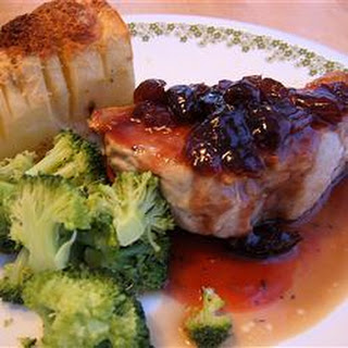 Pork Chops With Black Cherry Sauce
