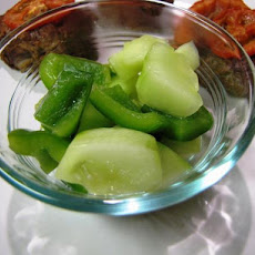 Pfepfel Bar Labid--Tunisian Cucumber and Pepper Relish