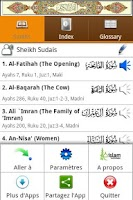 Screenshot of Al Quran (French, Français)