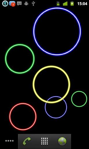 Neon Bubbles Live Wallpaper