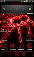 Screenshot of Red Neon GO Launcher EX theme
