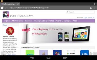 Screenshot of Puffin Academy