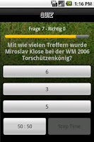Screenshot of FussballQuiz