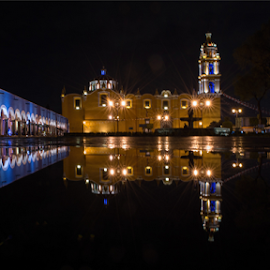 Reflections by Cristobal Garciaferro Rubio - City,  Street & Park  Street Scenes ( water, reflection, park, church, street, reflections )