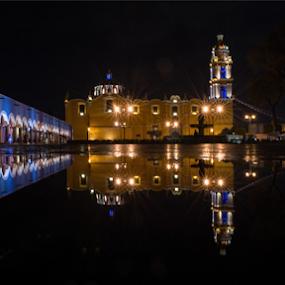 Reflections by Cristobal Garciaferro Rubio - City,  Street & Park  Street Scenes ( water, reflection, park, church, street, reflections )