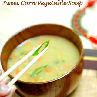 Indo-Chinese Sweet Corn Vegetable Soup