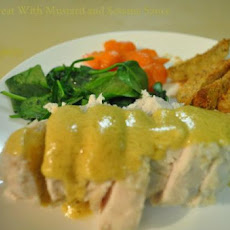 Chicken Breast With Mustard and Sesame Sauce