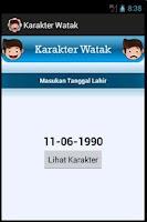 Screenshot of Karakter Watak