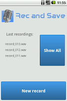 Screenshot of Rec and Save Recorder