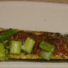 Roasted Zucchini Boats