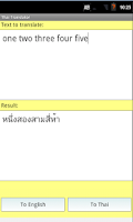 Screenshot of Thai English Translator Pro