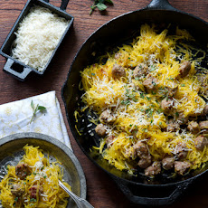 Roasted Spaghetti Squash with Sausage