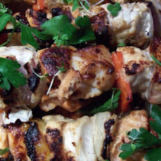 Grilled Soy and Dijon Marinated Swordfish Kebabs