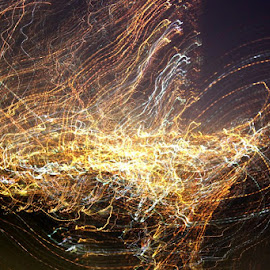 Abstract July 4 by Steve Molter - Abstract Light Painting ( abstract, city lights, los angeles, digital )